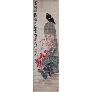 FLOWERS AND BIRD ON PAPER, QI BAISHI