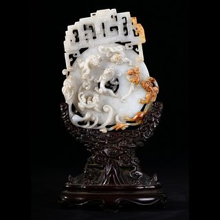A WHITE JADE CHILONG DISC