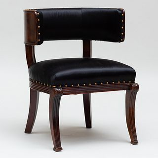 Regency Carved Mahogany Klismos Chair
