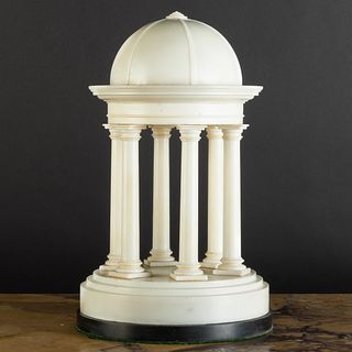 Italian Carrara Marble Model of a Rotunda