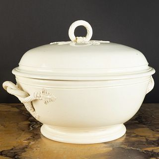 Leeds Creamware Tureen and Cover