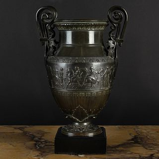 Italian Late Neoclassical Bronze Urn, After the Antique