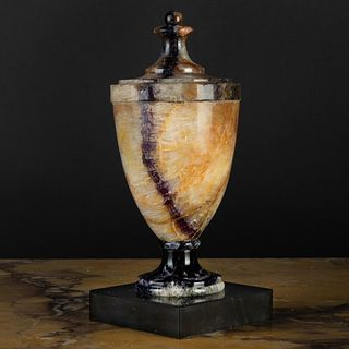 Blue John and Black Marble Urn and Cover