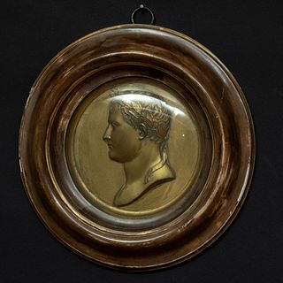 French Gilt Bronze Profile Portrait of Napoleon