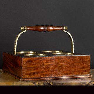 Scottish Brass-Mounted Mahogany Portable Wine Cooler