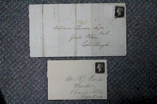 A collection of covers and FDCs including two 1840 1d blacks (condition fair), a large and interesti