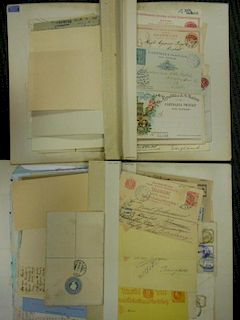 German philatelic and postal history collection, in 16 binders, and much loose material. Many countr