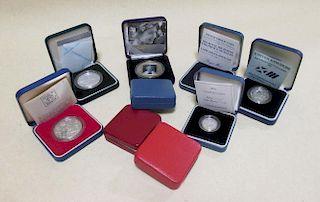 Royal Mint 1989 silver proof £1, a proof 1988 £1, a 2005 proof £1, a 2006 proof £1, a 1989 silver pr