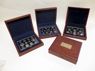 A 2005 Royal Mint Executive proof set, Nelson Crown - 1p together with a 1926-2006 proof set £5 - 1p