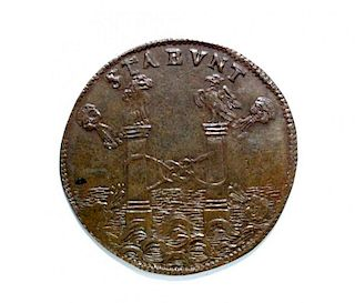 Spain - Philip IV jeton, 1664, VF or better (nice tone)