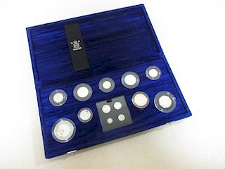 Royal Mint Millennium Silver Collection, £5 - 1p