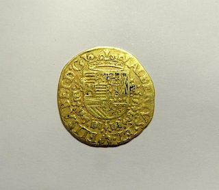 A 1600 gold coin, Brabant, Albert and Elizabeth gold Albertina d'or