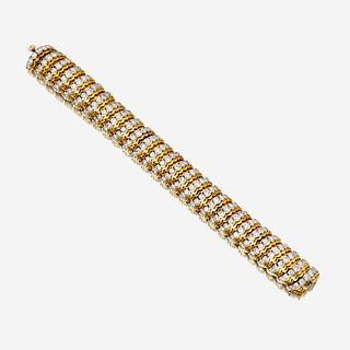An eighteen karat gold and diamond bracelet, Van Cleef & Arpels c. 1950