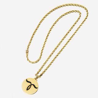 An eighteen karat gold zodiac pendant necklace, Bulgari