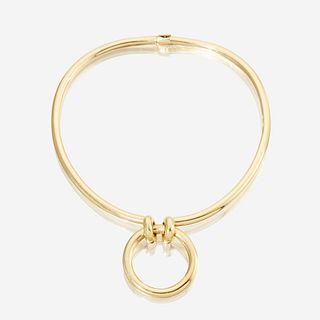 An eighteen karat gold choker, Hermès Paris