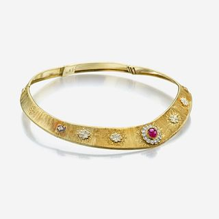 An eighteen karat gold, ruby, and diamond necklace, Buccellati Italy