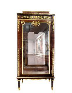 F. Linke Bronze Mounted Kingwood Vitrine Cabinet