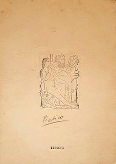 Esculpiendo Una Cabeza, A PICASSO ETCHING PRINT, Signed