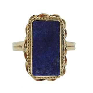 14k Gold Lapis Ring