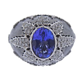 18k Gold Tanzanite Diamond Ring