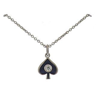 Hearts of Fire 18k Gold Diamond Spade Pendant Necklace