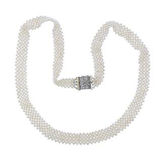 18k Gold Pearl Diamond Necklace