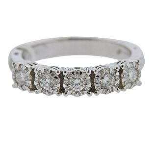 Memoire 18k Gold 0.51ctw Diamond Wedding Band Ring