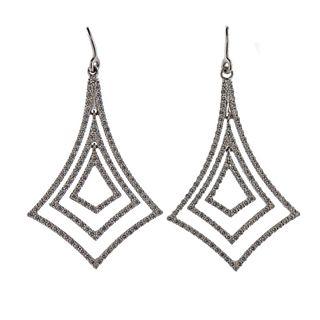 Tiffany & Co 18K White Gold Diamond Drop Earrings
