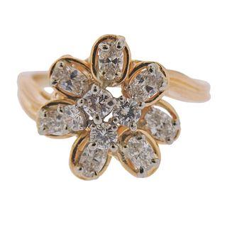 Oscar Heyman 18k Gold Platinum Diamond Ring