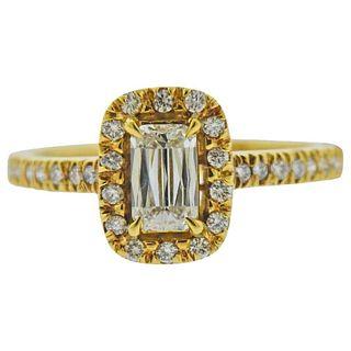 Ashoka 0.88ctw Diamond 18k Gold Engagement Ring