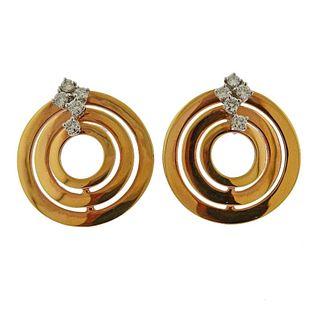 Damiani Rose Gold Diamond Earrings