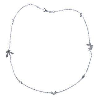 18k Gold Diamond Angel Station Necklace