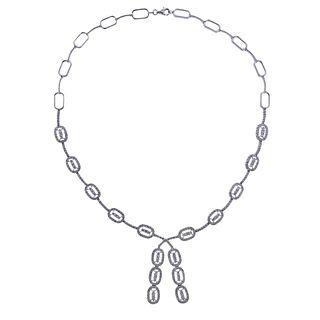 18k Gold 5.00ctw Diamond Necklace