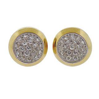 18k Gold 3.00ctw Diamond Earrings