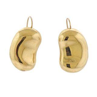 Tiffany & Co Elsa Peretti 18k Gold Bean Earrings