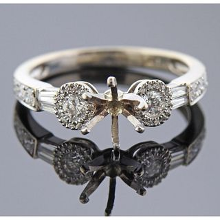 18k Gold Diamond Engagement Ring Setting