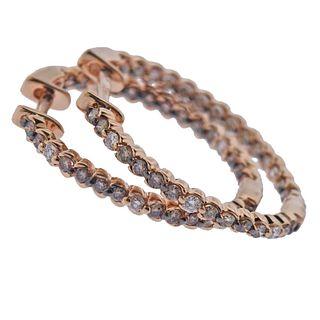 LeVian Le Vian 14k Gold Diamond Hoop Earrings