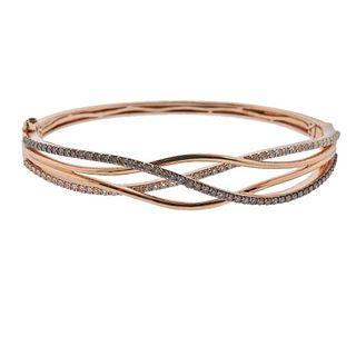 LeVian Le Vian 14k Gold Diamond Bangle Bracelet