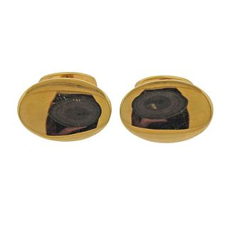 Tiffany & Co 18k Gold Oval Cufflinks