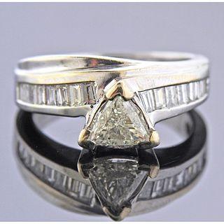 18k Gold Diamond Bridal RIng Set