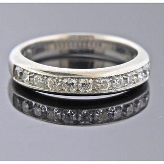 Tiffany & Co Lucida Platinum Diamond Band Ring
