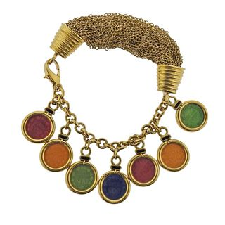 18k Gold Multi Charm Bracelet
