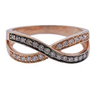 14k Rose Gold Fancy Diamond Ring