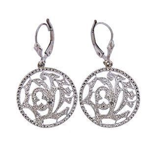 14k Gold Diamond Openwork Love Earrings