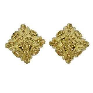 18k Gold Large Earrings