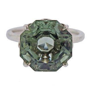 Tiffany & Co Sterling Silver Prasiolite Ring