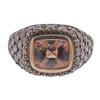 Sylva & Cie 14k Gold Zircon Diamond Ring