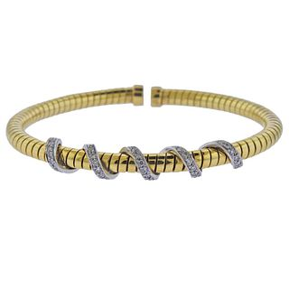 18k Gold Diamond Cuff Bracelet