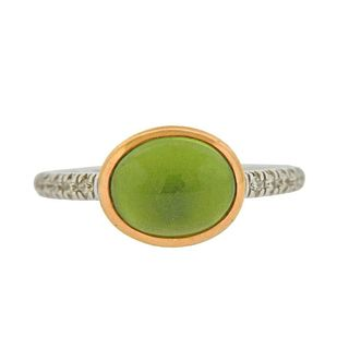 Mimi Milano 18K Gold Peridot Diamond Ring