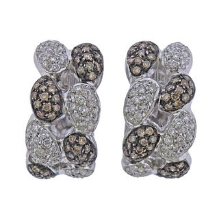 18k Gold Fancy Diamond Earrings